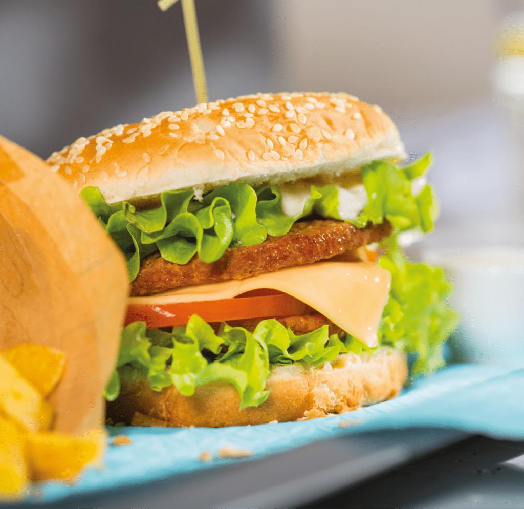 Sesja produktowa hamburgera